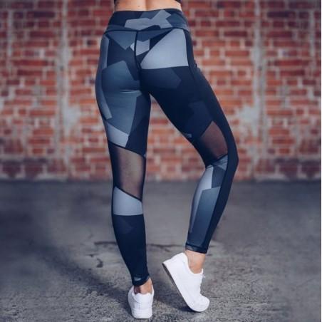 Sportowe Legginsy Fitness Trening Czarne L LEG31L