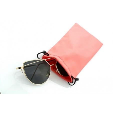 Etui na okulary pudrowy roz ET02