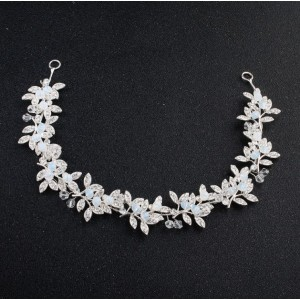 OPASKA DO WŁOSÓW SILVER CRYSTALS AND PEARLS  O122