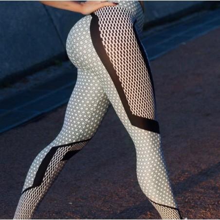 Sportowe Legginsy Fitness Trening SZAROŚĆ L LEG36L