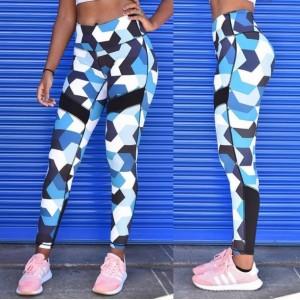 Sportowe Legginsy Fitness Trening BŁĘKIT S LEG37S
