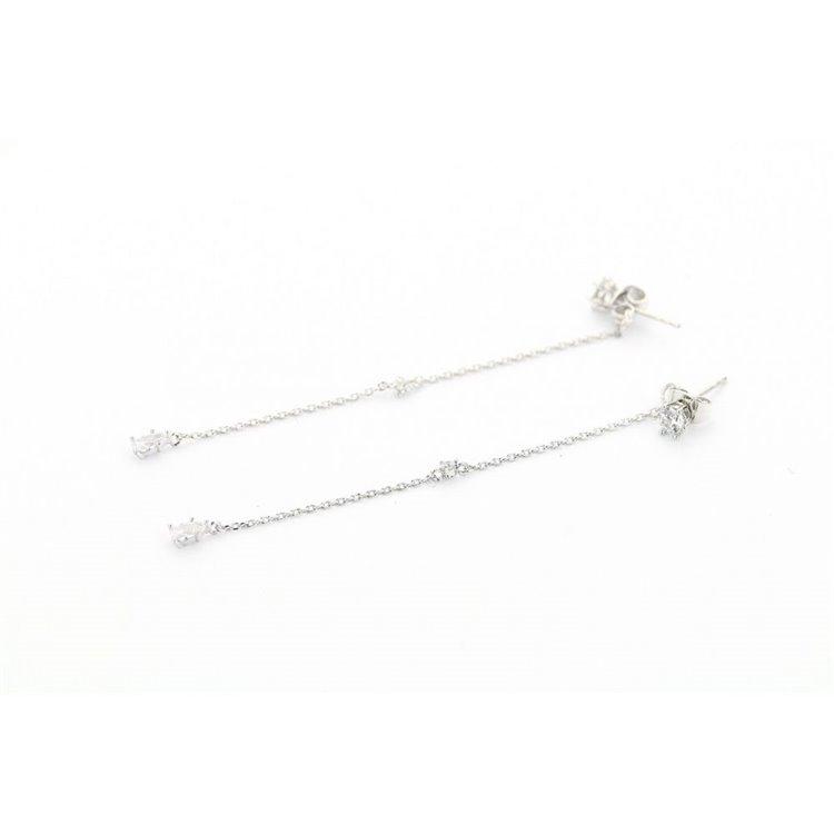 Kolczyki stal chirurgiczna srebrne KST1171
