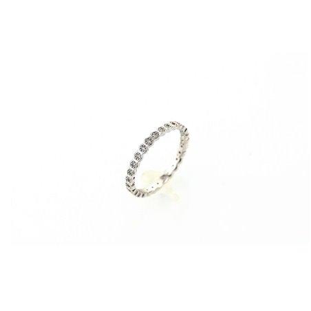 Pierścionek kryształki stal chirurgiczna platerowana złotem PST510S