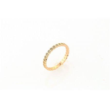Pierścionek kryształki stal chirurgiczna platerowana złotem PST510Z