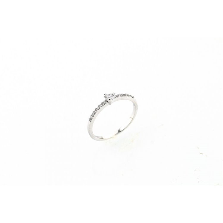 Pierścionek kryształki stal chirurgiczna platerowana złotem PST517