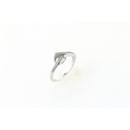 Pierścionek kryształki stal chirurgiczna platerowana złotem PST519