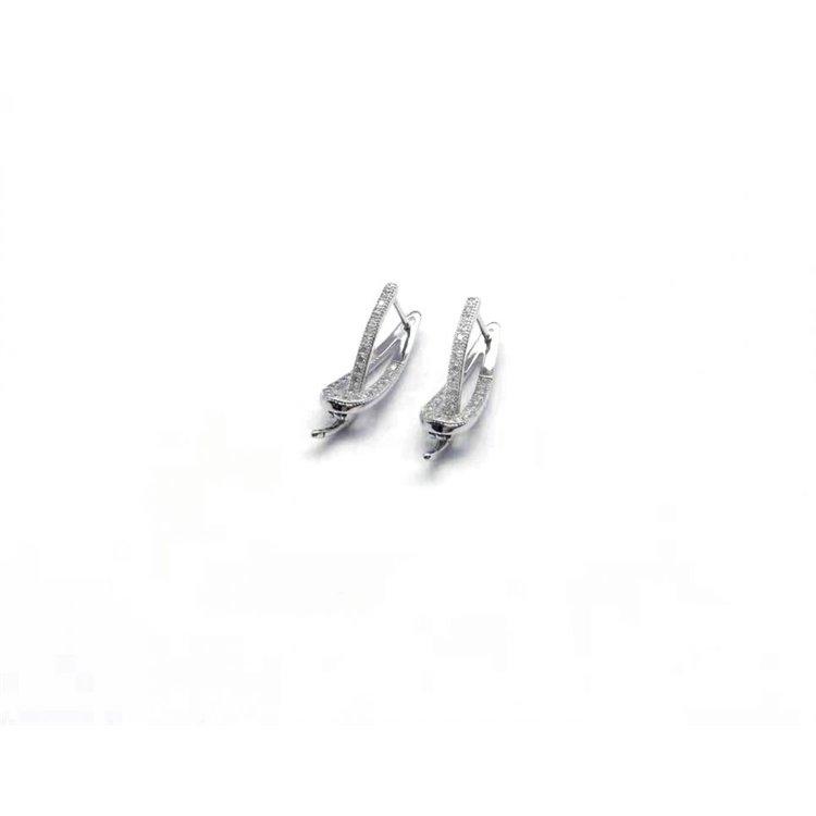 Kolczyki stal chirurgiczna srebrne KST1287