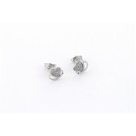 Kolczyki stal chirurgiczna srebrne KST1280
