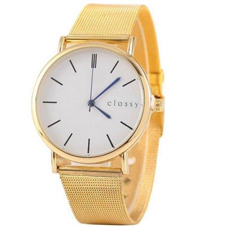 Zegarek damski złoty z białą tarczą Z38Z