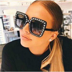 Okulary przeciwsłoneczne crystal czarne ok146