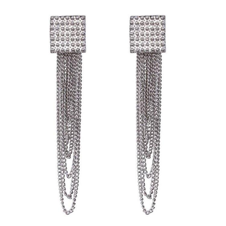 Kolczyki wiszące kryształki srebrne K992S