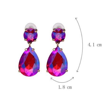 Kolczyki wiszące kryształki krem K1002K
