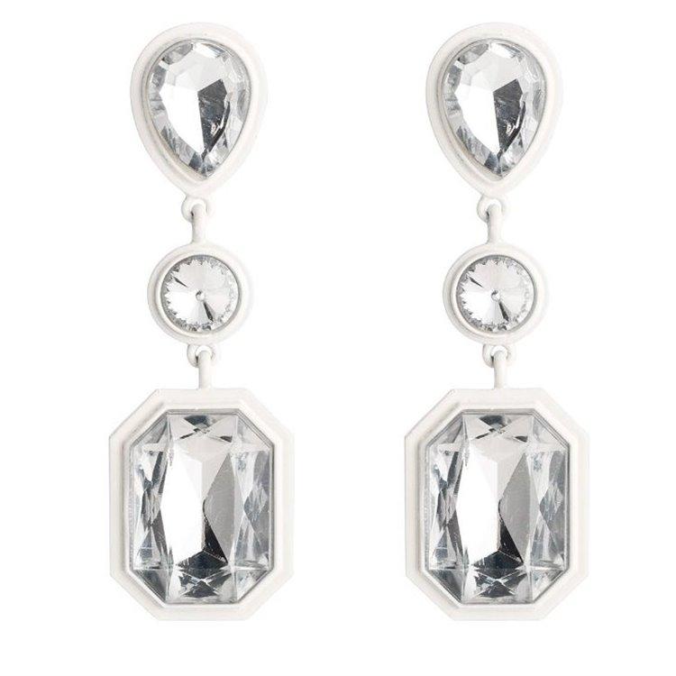Kolczyki kryształki białe K976B