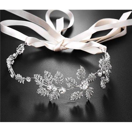 Opaska ślubna z kryształkami O139