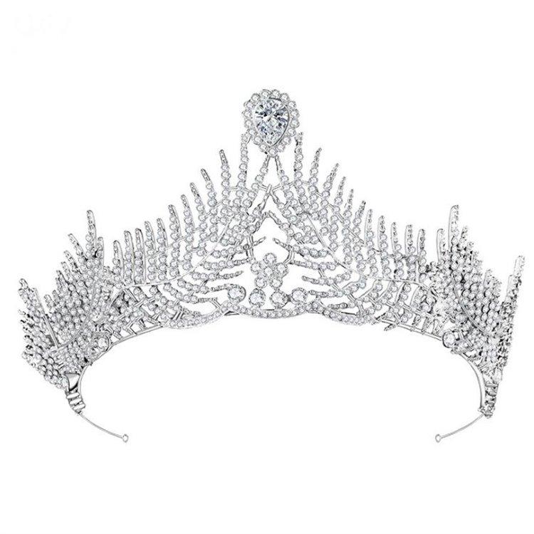 Opaska ślubna z kryształkami tiara O151