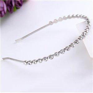Opaska do włosów srebrna z kryształki O167