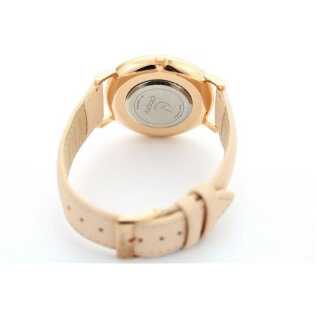 Zegarek damski classy marmur na pasku różowe złoto Z673
