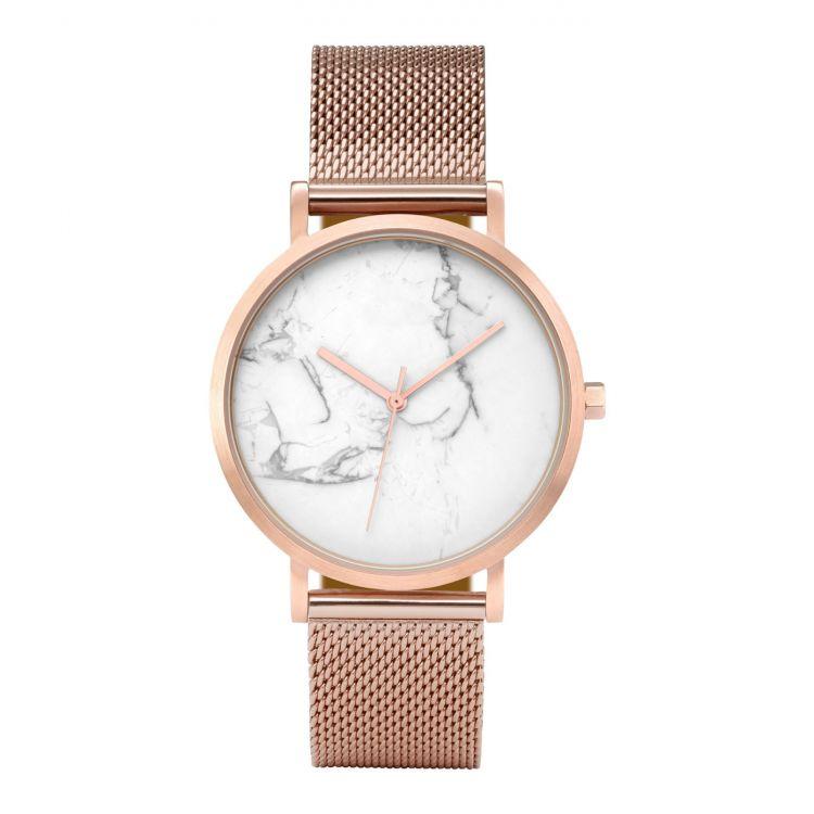 Zegarek damski classy marmur na bransolecie różowe złoto Z674RZ