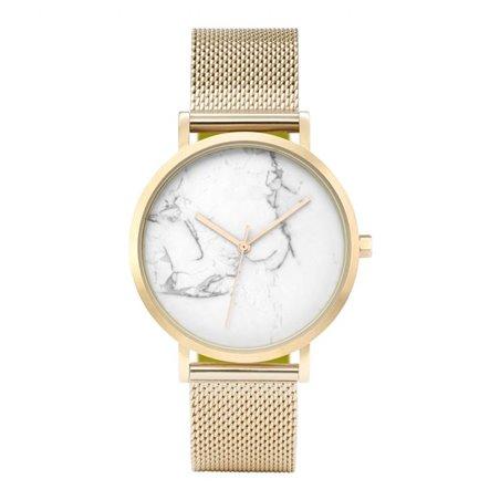 Zegarek damski classy marmur na bransolecie złoto Z674Z