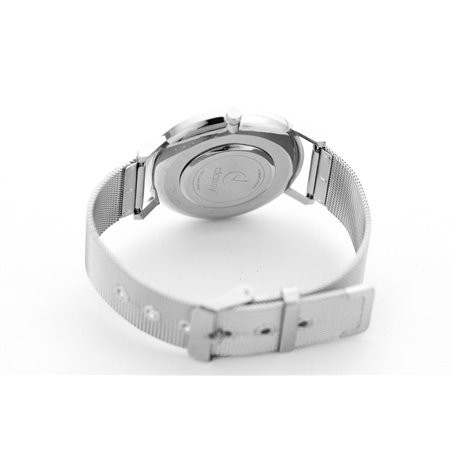 Zegarek damski classy marmur na bransolecie srebrny Z674S