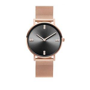 Zegarek damski classy kryształki na bransolecie różowe złoty Z680RZ