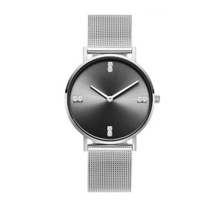 Zegarek damski classy kryształki na bransolecie srebrny Z680S