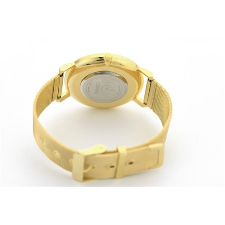 Zegarek damski classy kryształki na bransolecie złoty Z680Z