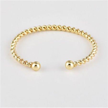 Zestaw 4w1 bransoletki złote listki kryształek B249