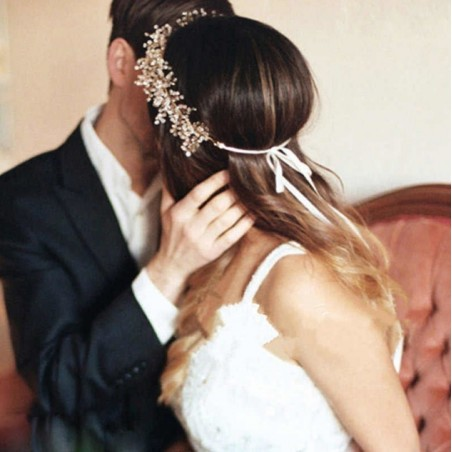 OPASKA DO WŁOSÓW Ślubna  Bogata O175