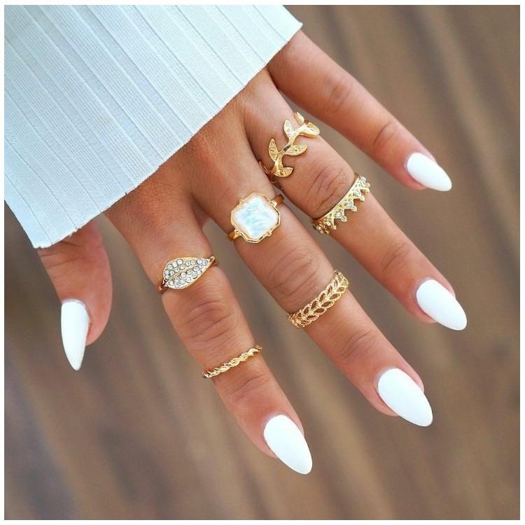 Zestaw pierścionków złote PE39