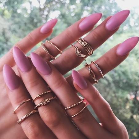 Zestaw 12 pierścionków złote PE50
