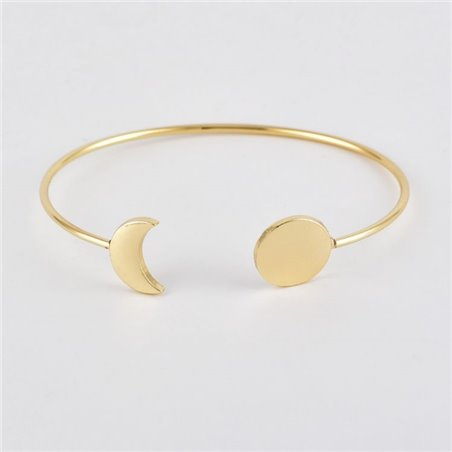 Zestaw 5w1 bransoletki złote pióro księżyc B247