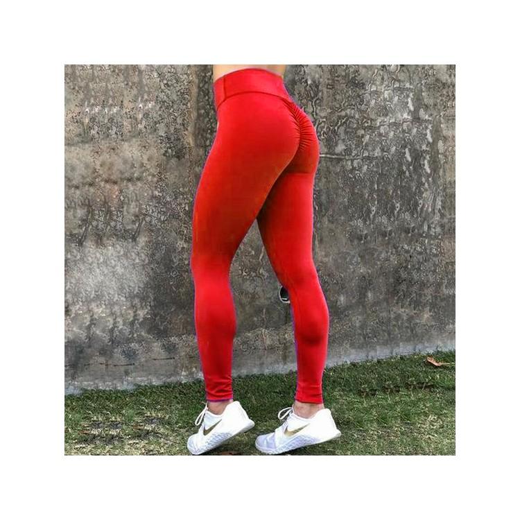 Legginsy Fitness Trening Sciągane Czerwień M LEG42CZEM