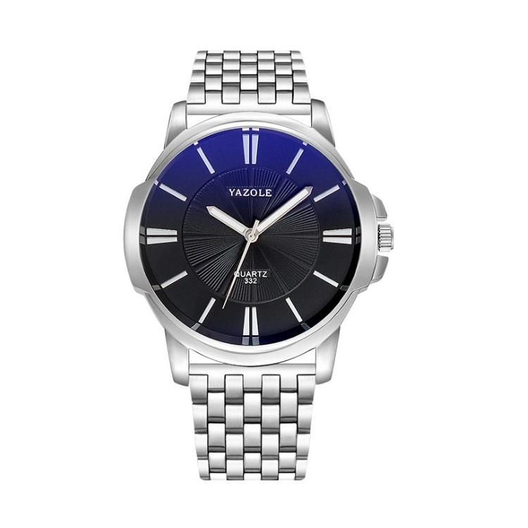 Zegarek męski yazole czarna tarcza na bransolecie ZM191