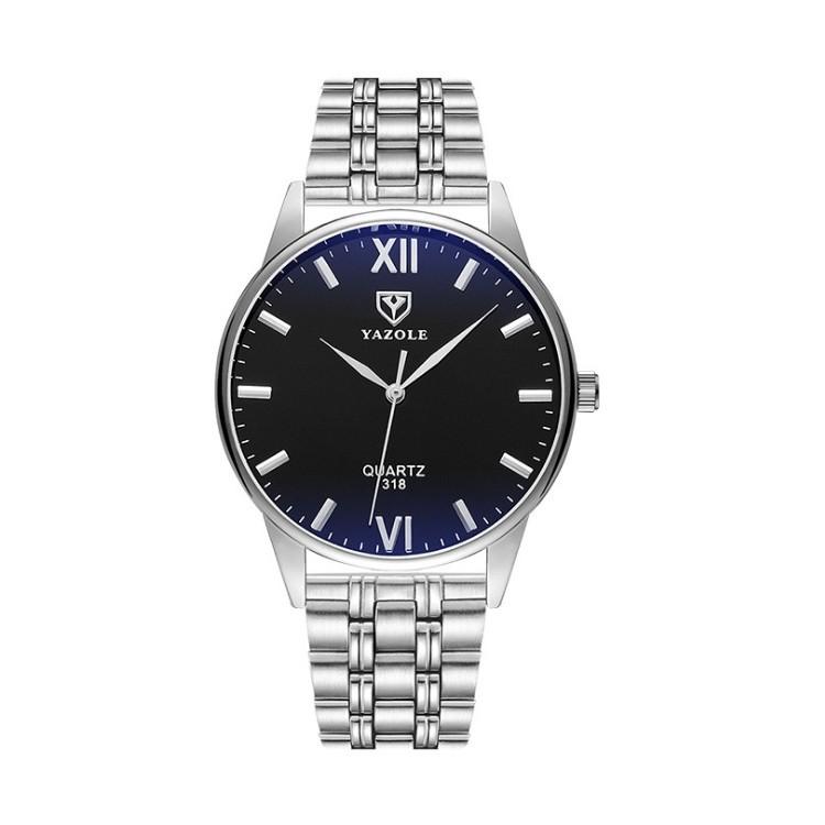 Zegarek męski yazole czarna tarcza na bransolecie ZM192