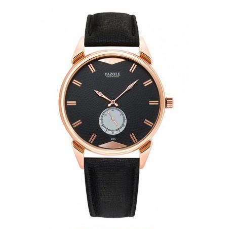 Zegarek męski yazole czarna tarcza czarny pasek ZM189CZCZ