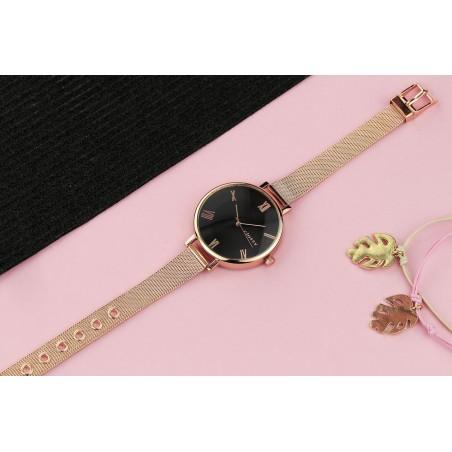 Zegarek damski classy różowe złoto na bransolecie Z677