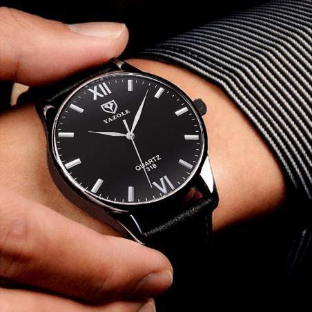 Zegarek męski yazole czarny, czarna tarcza czarny pasek ZM92WZ3