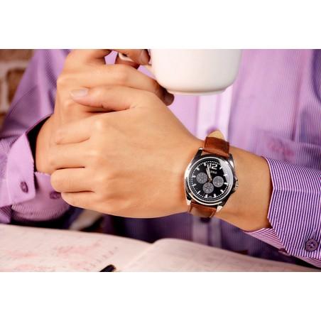 Zegarek męski yazole czarna tarcza czarny pasek ZM62CZCZ