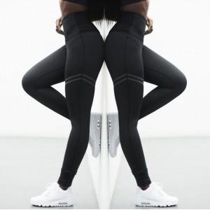 Sportowe Legginsy Fitness Trening Czarne M LEG16M