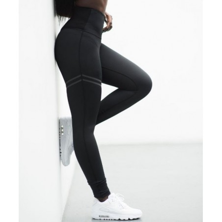 Sportowe Legginsy Fitness Trening Czarne S LEG16S