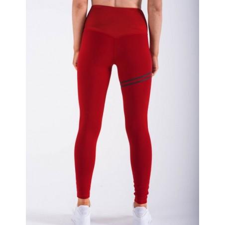 Sportowe Legginsy Fitness Trening Czerwone M LEG18M