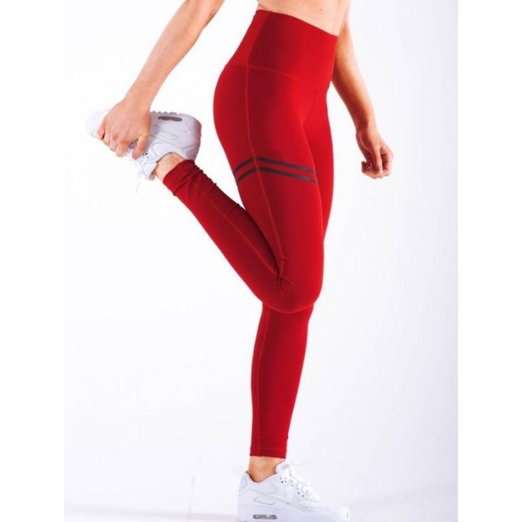 Sportowe Legginsy Fitness Trening Czerwone S LEG18S