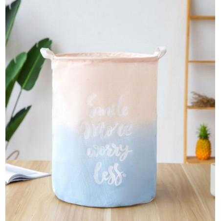Pojemnik kosz worek na zabawki lub pranie ombre różowo niebieski OR2WZ74