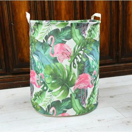Pojemnik kosz worek na zabawki lub pranie flamingi palmy OR2WZ85