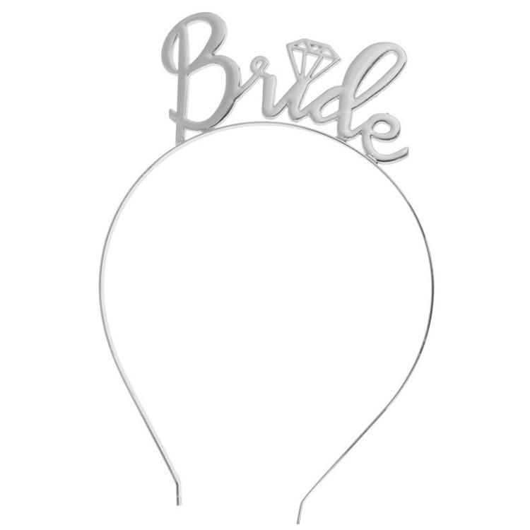 Opaska do włosów BRIDE srebro O152S