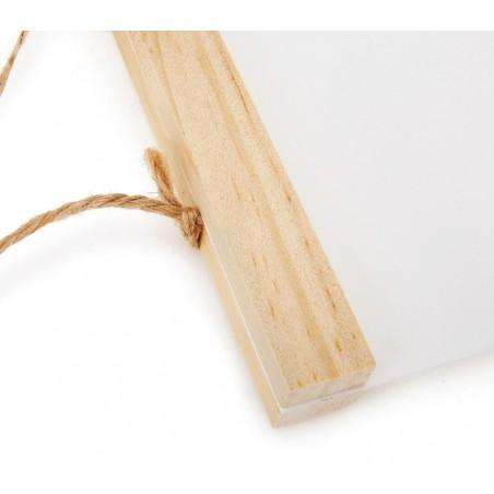 Ozdoba ścienna drewno płótno miarka do pokoju dziecięcego Szarość OZD5
