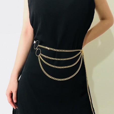 Pasek ozdobny do sukienki, spodni złoty PAS05Z