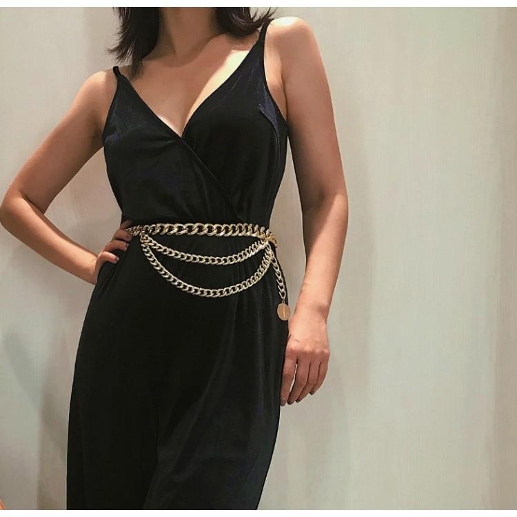 Pasek ozdobny do sukienki, spodni złoty PAS07Z