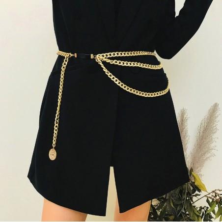 Pasek ozdobny do sukienki, spodni złoty PAS08Z
